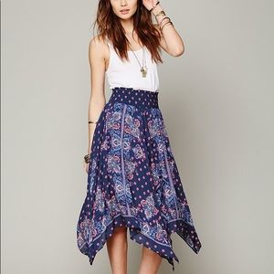 Free People Fly Away Trapeze Handkerchief Skirt